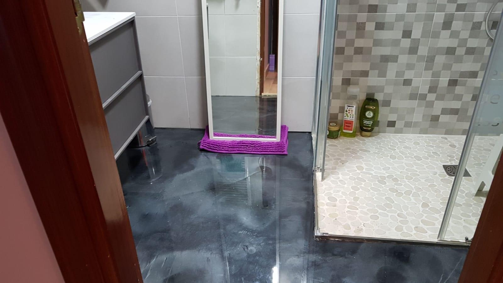 Epoxi 3D Metal suelo de baño Madrid